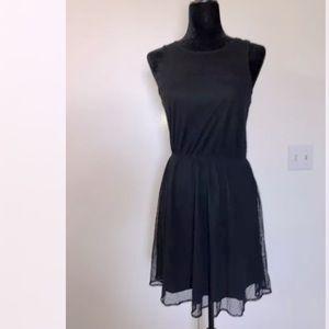Frenchi Black Lace Dress Small